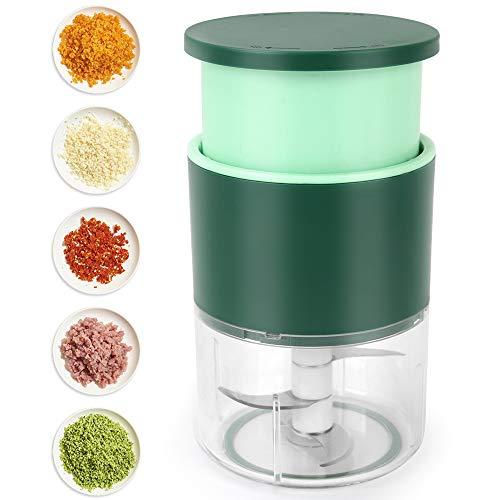 Manual Mini Garlic Chopper, Hand-Pressing Mincer Grinder,...