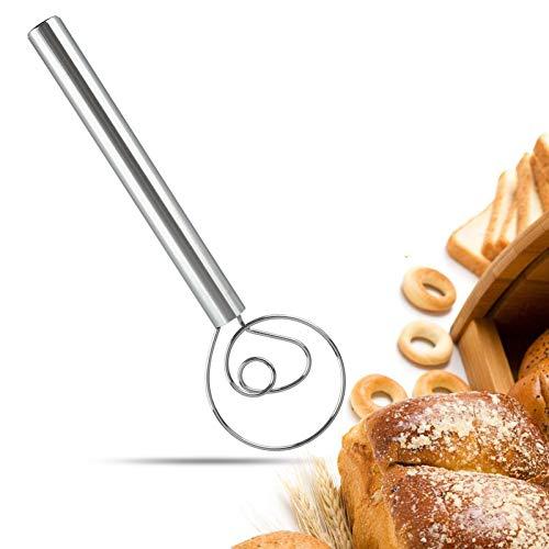 Danish Dough Whisk, Premium 304 Stainless Steel 12-Inch...