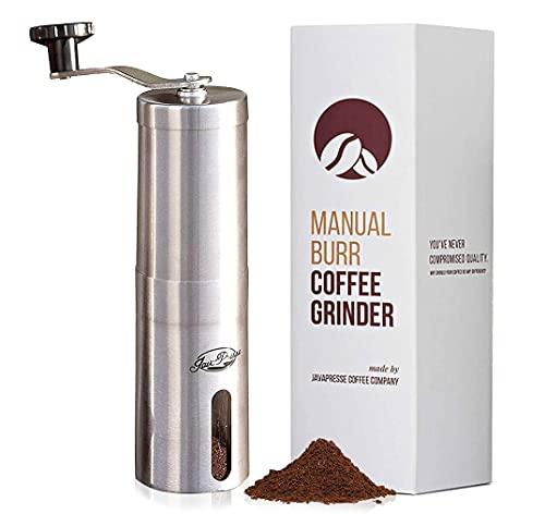 JavaPresse Manual Coffee Grinder with Adjustable Settings -...