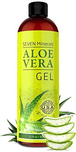 Organic Aloe Vera Gel with 100% Pure Aloe From Freshly Cut...