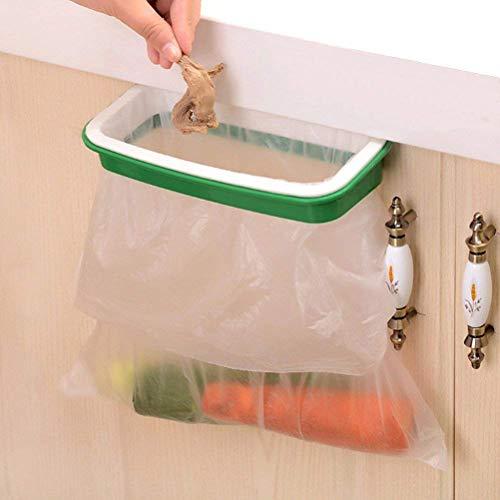 Lunies Over The Cabinet Plastic Trash Bag Holder for...