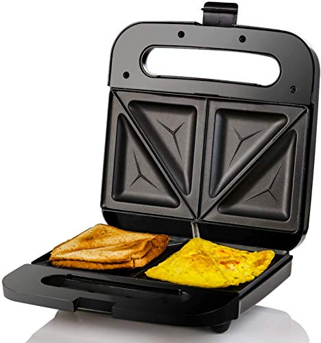 Ovente Electric Indoor Sandwich Grill Maker with Non-Stick...