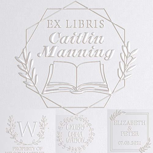 EX LIBRIS Library Book Embosser Seal Custom Personalized 5...
