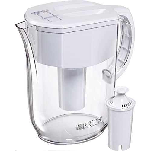 Brita Standard Everyday Water Filter Pitcher, White, Large...