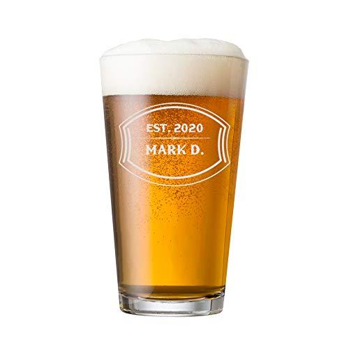 PersonalizedPint Glasses 16oz - Custom Engrave Pint Beer...