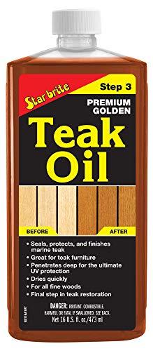 STAR BRITE Premium Golden Teak Oil 16 Oz- Sealer, Preserver,...