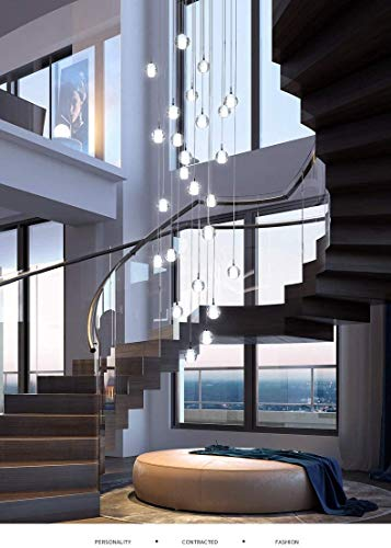 Crystal Chandelier Modern Pendant Light LED Raindrop Ceiling...