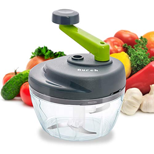 Nurch Manual Food Chopper, Easy to Clean Hand Food...