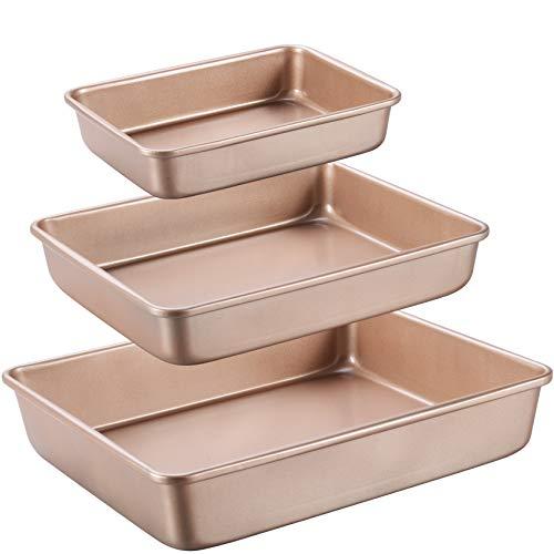 JOHO BAKING Deep Baking Pans Sets Nonstick,Baking Sheets for...