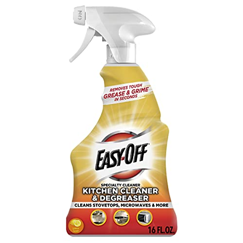 Easy Off Specialty Kitchen Degreaser Cleaner, Clear, Lemon,...