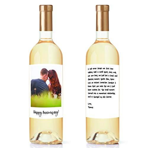 Custom Wine Label Unique Gift - Wine Bottle Labels Set of 2...