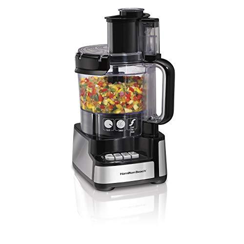 Hamilton Beach 12-Cup Stack & Snap Food Processor &...