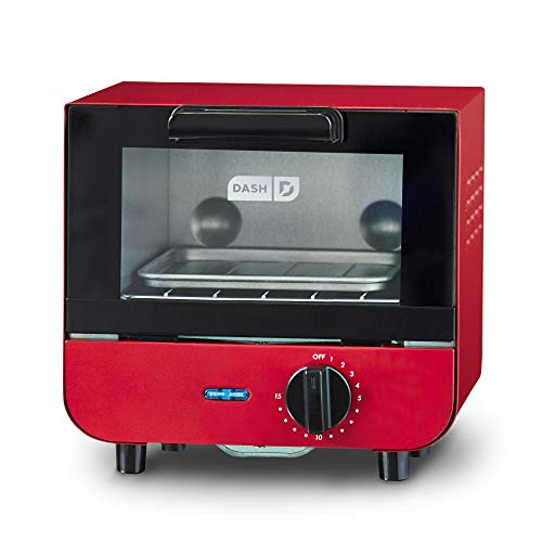 Dash DMTO100GBRD04 Mini Toaster Oven Cooker for Bread,...