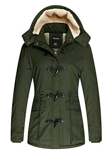 Wantdo Women's Warm Sherpa Lined Hooded Jacket Outdoor Coat...