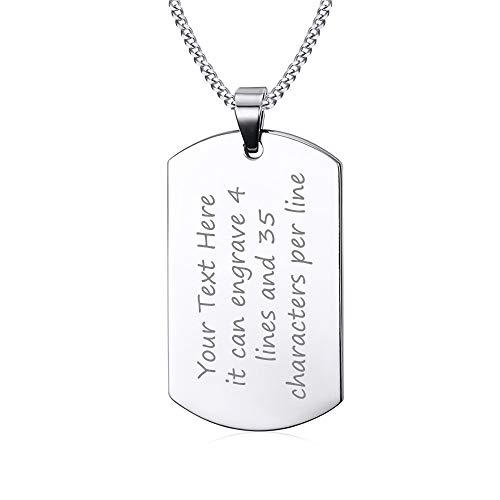 VNOX Dog Tags Personalized for Men Free Custom Engraving...