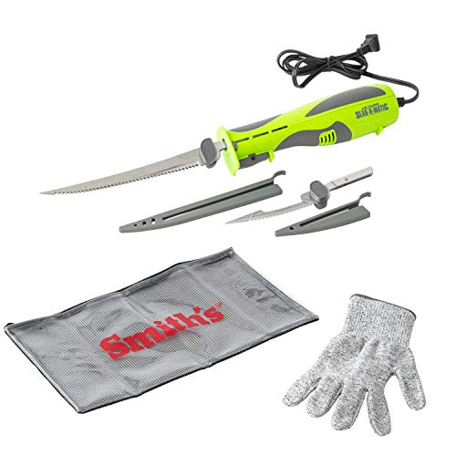 Smith's 51207 Mr. Crappie Slab-O-Matic Electric Knife, Green
