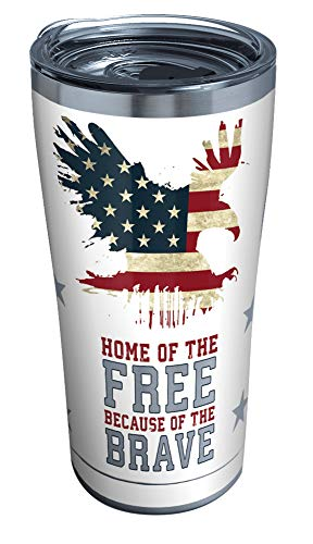 Tervis Home of the Free Because of the Brave Stainless Steel...