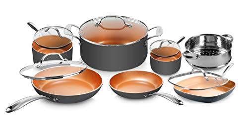 Gotham Steel Pots and Pans Set 12 Piece Cookware Set with...