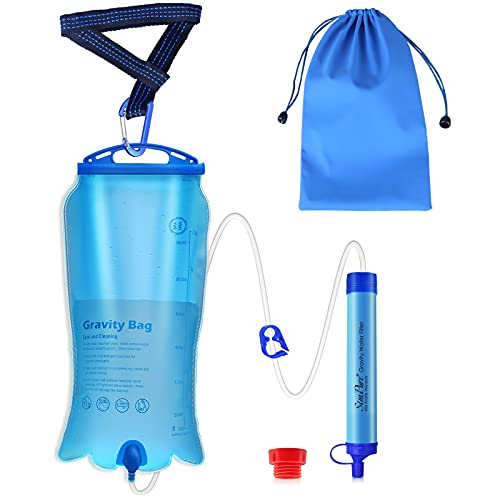SimPure Gravity Water Filter Straw, Portable Water...