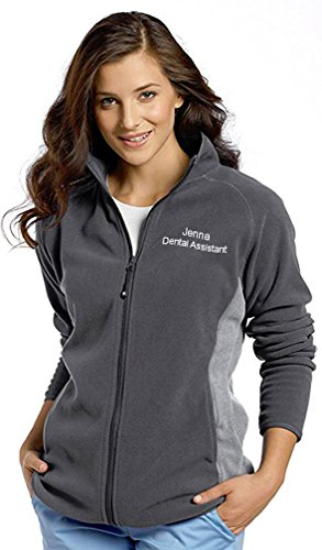 White Cross Custom Embroidered Polar Fleece Zip Front Sport...