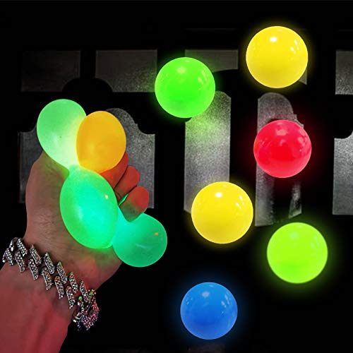 6 Pack Luminescent Stress Relief Toy Fluorescence Sticky...