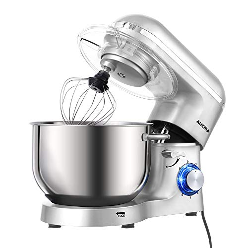 Aucma Stand Mixer,6.5-QT 660W 6-Speed Tilt-Head Food Mixer,...