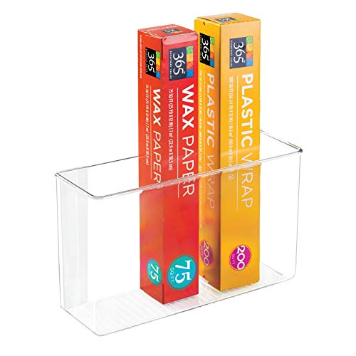 mDesign Modern Plastic Adhesive Cabinet Storage Organizer...