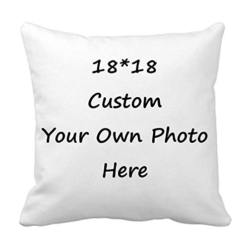 Custom Pillow Case, Design Photos or Text Customize Throw...