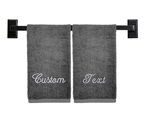 Personalized Hand Towels - Choose from 12 Fonts, 100%...