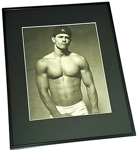 Marky Mark Framed Calvin Klein Advertisement Men's Fashion...