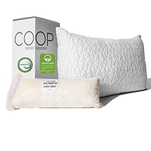 Coop Home Goods - Premium Adjustable Loft Pillow - Cross-Cut...