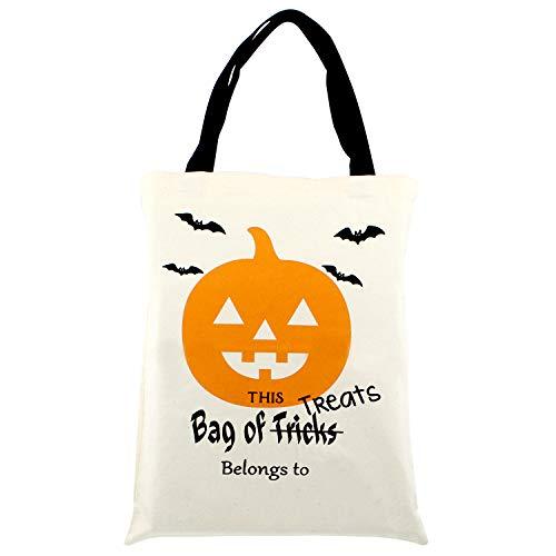 TuhooMall Halloween treat bags,17.3'x14', Trick or Treat...