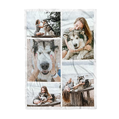 Personalized Throw Blanket. Custom Blanket with 1-9 Photo...