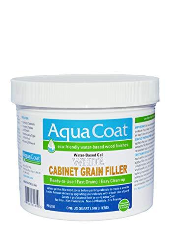 Aqua Coat, Best White Cabinet Wood Grain Filler, White Gel,...