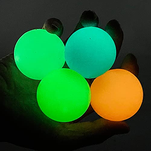 Glow in The Dark Sticky Ceiling Balls, Stress Ball for...