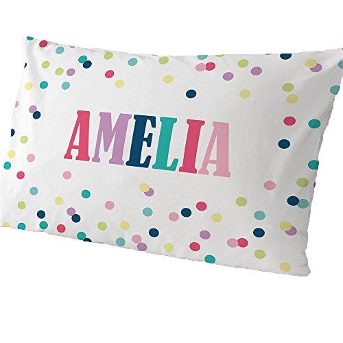 GiftsForYouNow Polka Dots Personalized Pillowcase, Girl