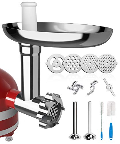X Home Meat Grinder Attachment for Kitchenaid Stand Mixer,...