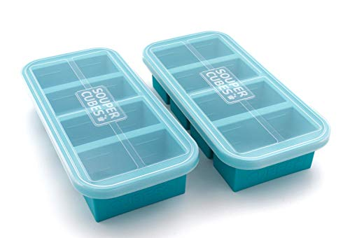Souper Cubes 1-Cup Extra-Large Silicone Freezing Tray with...