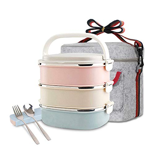 Unichart Stainless Steel Square Lunch Box with Container...