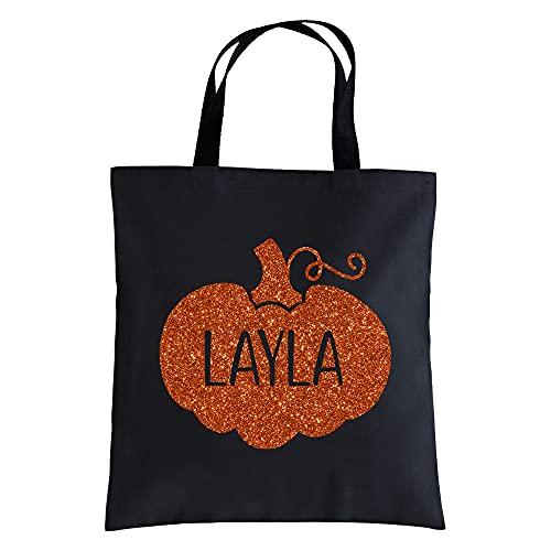 Let's Make Memories Personalized Sparkly Pumpkin Halloween...