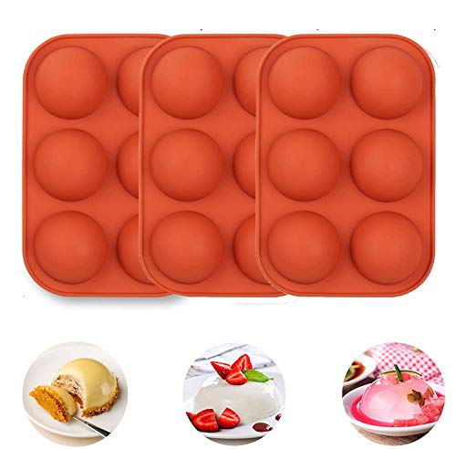 3Pack Half Ball Sphere Cake Silicone Mold, Festival Party...