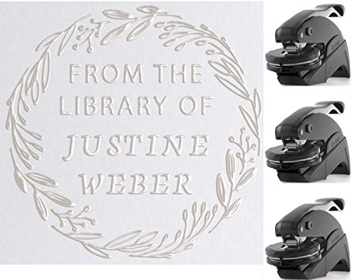 Library Book Embosser Personalized Stamp Custom - Mothers...