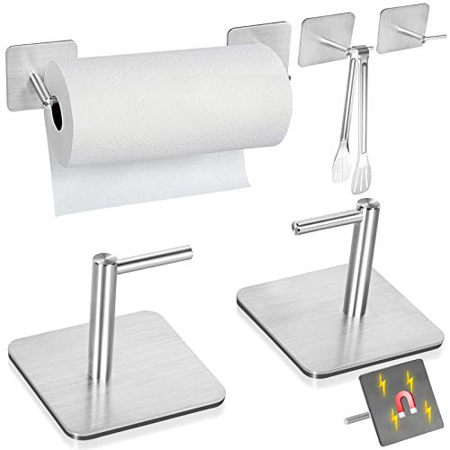 Magnetic Paper Towel Holders Heavy Duty Steel Brushed Holder...