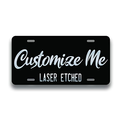 Personalized Front License Plates - Laser Engraved - Custom...