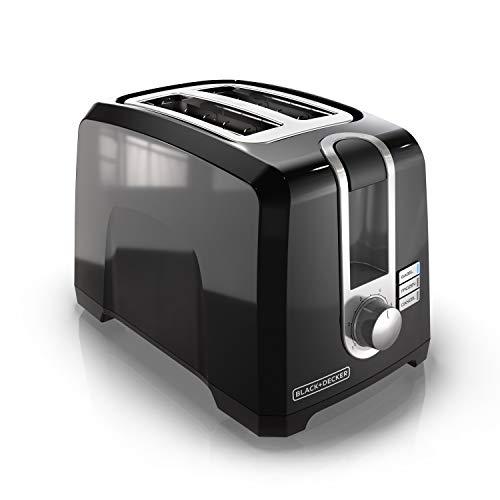 BLACK+DECKER 2-Slice Extra-Wide Slot Toaster, Square, Black,...
