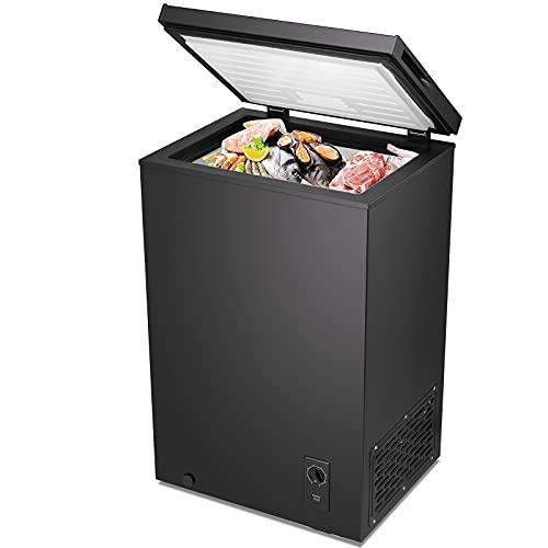 Kismile Chest Freezer Free Standing Top Door, Compact Chest...