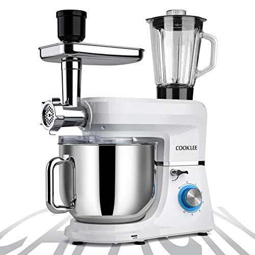 COOKLEE 6-IN-1 Stand Mixer, 8.5 Qt. Multifunctional Electric...
