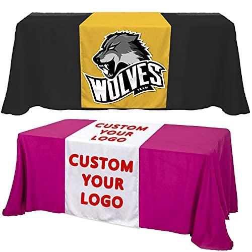 Custom Table Runner with Business Logo,Name,Design...