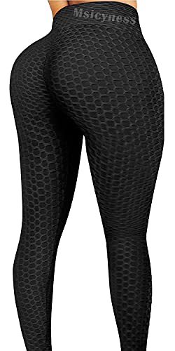 Msicyness Tiktok Leggings Women's High Waist Yoga Pants Butt...