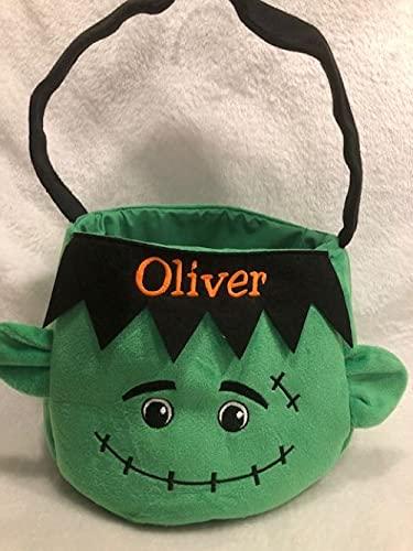 Personalized Halloween Basket, Trick or Treat Basket,...